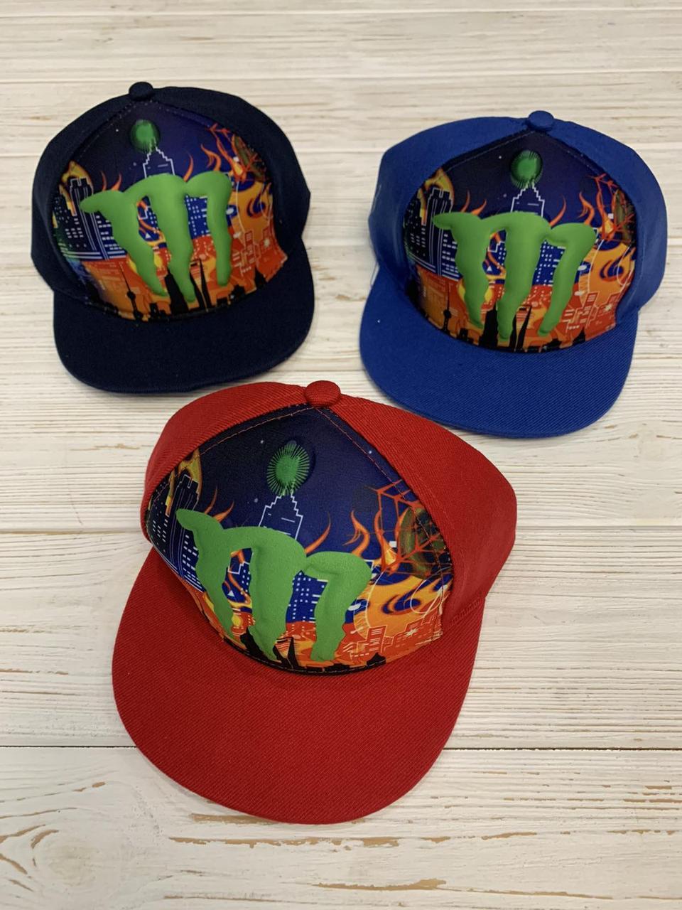 """Реперка детская 3d для мальчиков """"Monster"""" 52-54 см Цвет указывайте при заказе"""