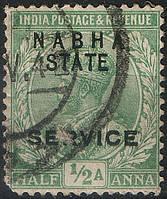 Британская Индия 1913 Nabha