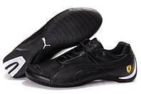 Мужские кроссовки Puma Ferrari Low (пума феррари, оригинал) черные низкие
