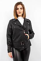 Женская куртка косуха Yarina черная большие размеры