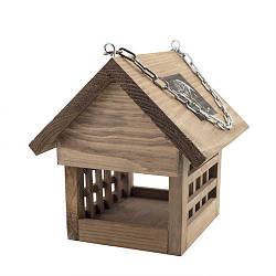 """Годівниця для птахів Decoline дерев'яна """"Клітка"""" D9014"""