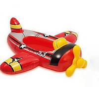 """Детский надувной плотик Intex (Интекс) для плавания """"Самолёт"""" 59380"""