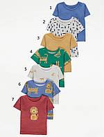 Різноманітні трикотажні футболки з левами для хлопчика Джордж (поштучно)