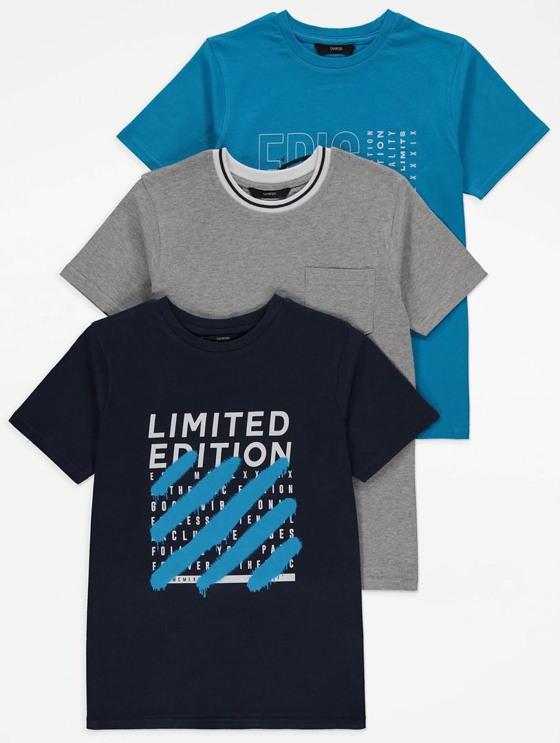 Різноманітні якісні футболки для хлопчика Джордж (поштучно)