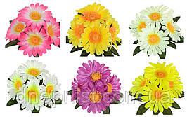 """Букет искусственный """"Ромашки бордюр"""" 5 цветков, 7.5 см, 20 см (6 видов)"""