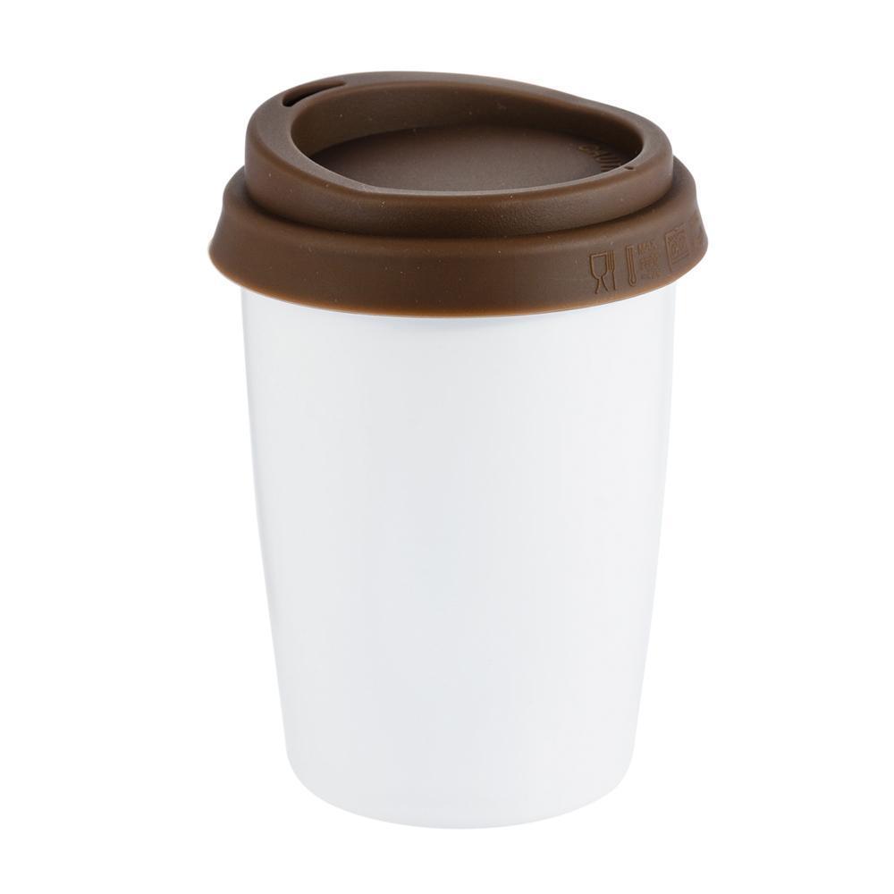 Керамічна чашка з подвійною стінкою Jess 280 мл Коричнева