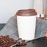 Керамічна чашка з подвійною стінкою Jess 280 мл Коричнева, фото 3