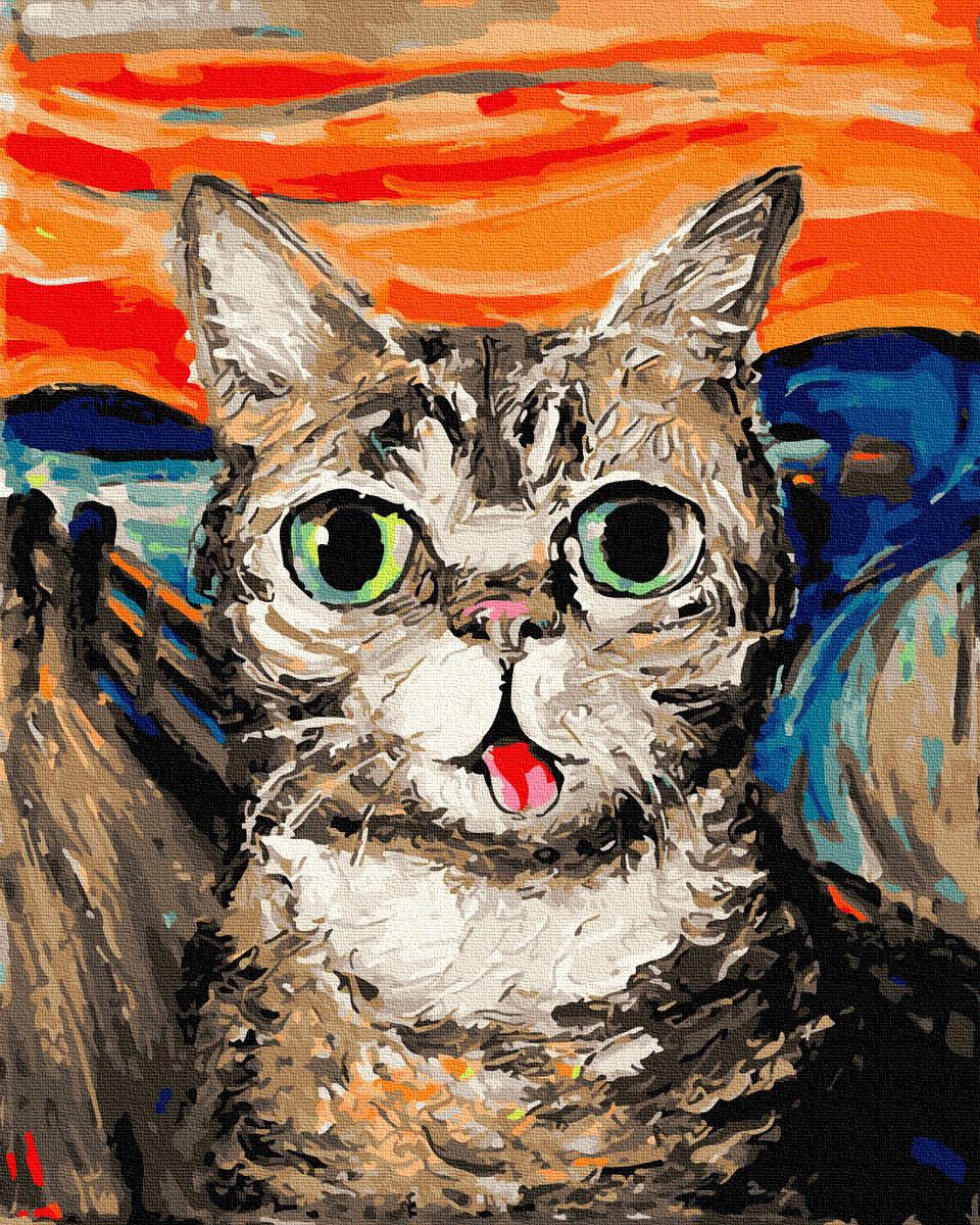 Картина по Номерам Кот Мунка 40х50см RainbowArt
