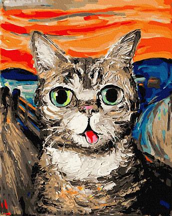 Картина по Номерам Кот Мунка 40х50см RainbowArt, фото 2