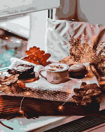Картина за Номерами Осінній сніданок 40х50см RainbowArt, фото 2