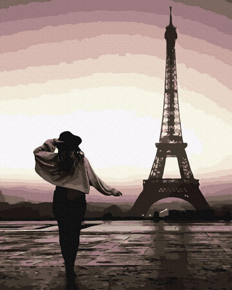 Картина по Номерам Прогулка по Парижу 40х50см RainbowArt