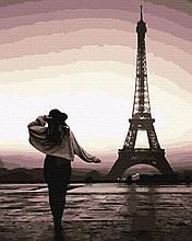 Картина за Номерами Прогулянка по Парижу 40х50см RainbowArt