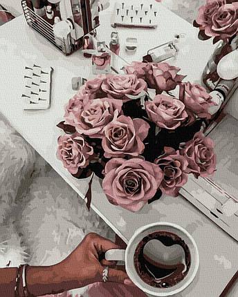Картина по Номерам Ароматный кофе 40х50см RainbowArt, фото 2