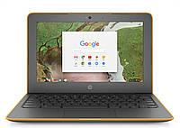 Ноутбук HP Chromebook 11A G6 EE-AMD A4-9120C-1.2GHz-4Gb-DDR4-32Gb-SDD-W11.6-Web-(серо-оранжевый)-(B)- Б/У