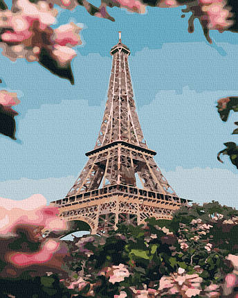 Картина по Номерам Цветущий Париж 40х50см RainbowArt, фото 2
