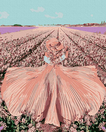 Картина по Номерам Поле тюльпанов 40х50см RainbowArt, фото 2