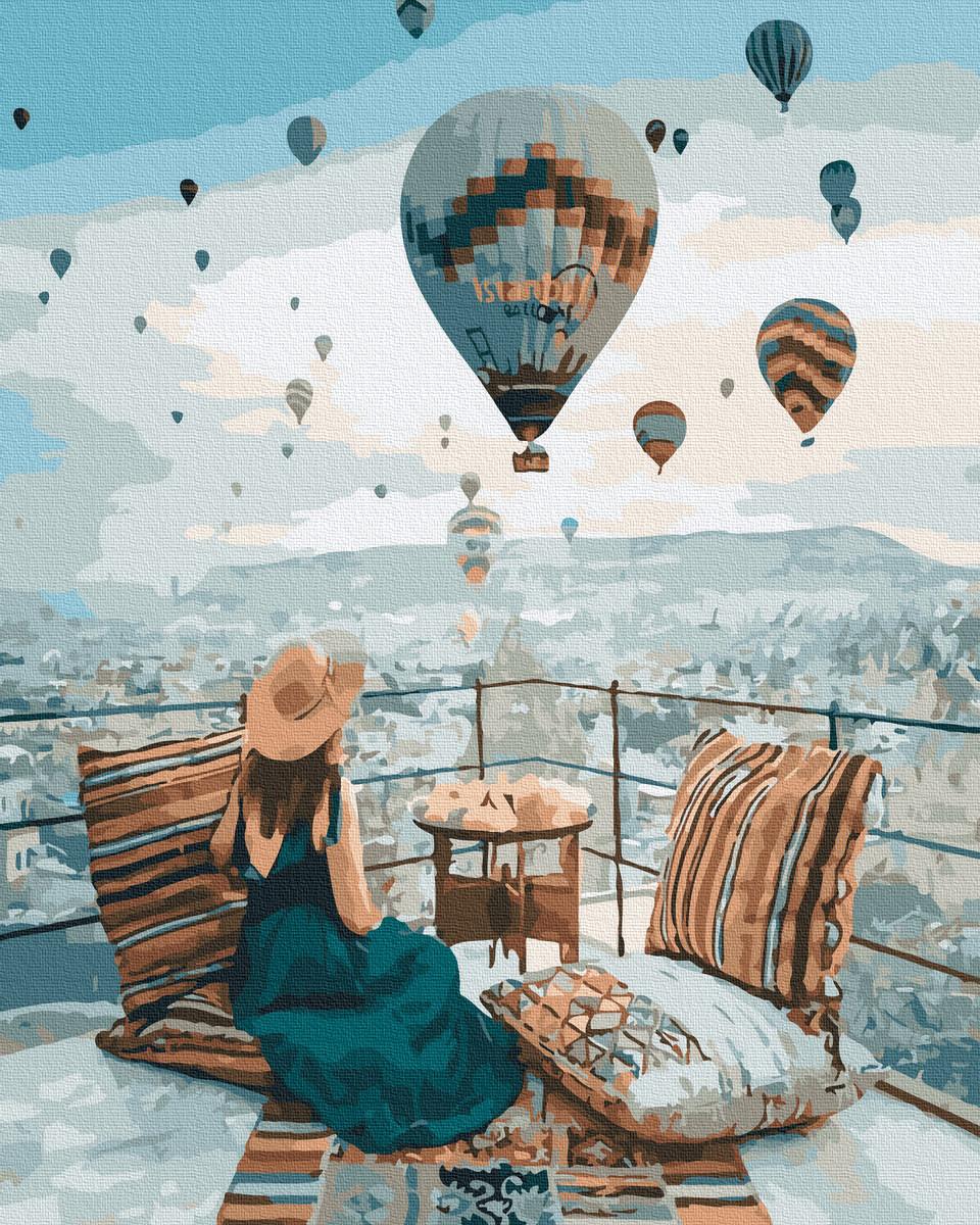 Картина по Номерам Полет в Каппадокии 40х50см RainbowArt