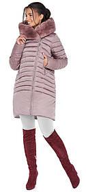 Женская пудровая куртка практичная модель 31038