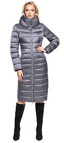 Жемчужно-серая куртка трендовая женская модель 31074 (ОСТАЛСЯ ТОЛЬКО 42(XXS))