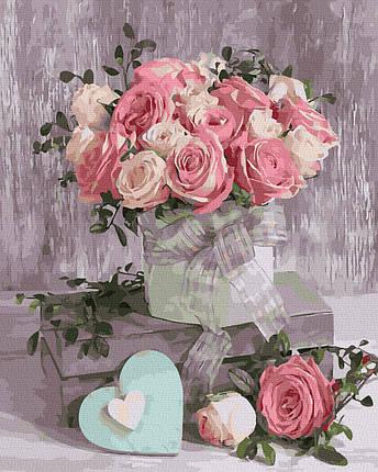Картина за Номерами Ранкові троянди 40х50см RainbowArt, фото 2