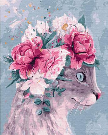 Картина за Номерами Кішка модниця 40х50см RainbowArt, фото 2