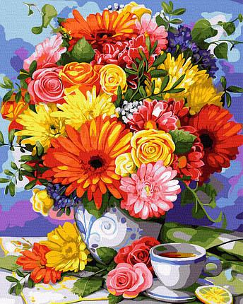 Картина по Номерам Чудесный букет 40х50см RainbowArt, фото 2