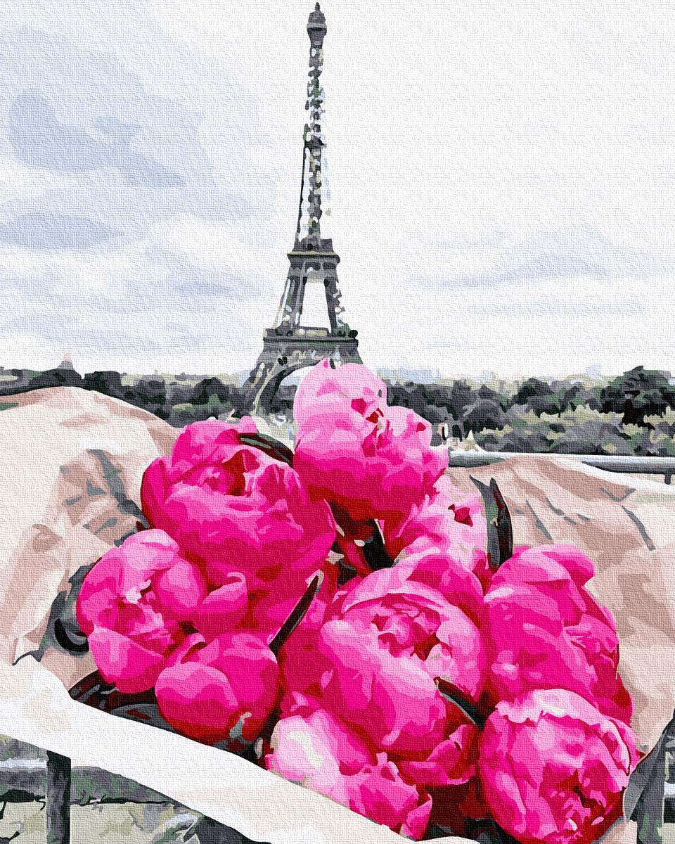 Картина по Номерам Пионы в Париже 40х50см RainbowArt