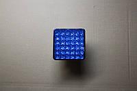 Ліхтар діодний квадратний синій 10*10