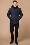 Стёганая зимняя куртка на мужчину синяя модель 24534, фото 2