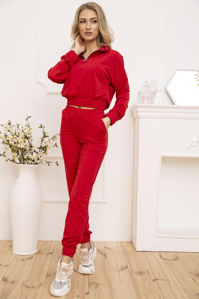 Спорт костюм жіночий 119R286 колір Червоний