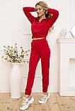 Спорт костюм жіночий 119R286 колір Червоний, фото 2