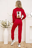 Спорт костюм жіночий 119R286 колір Червоний, фото 3