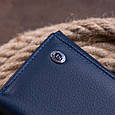 Гаманець горизонтальний з монетником на блискавці унісекс ST Leather 19360 Синій, фото 9