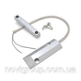Магнітоконтактний Датчик з дротом 30 см MC-59, 105*16*16 мм, алюмінієвий сплав, сірий, для саморізів, 1