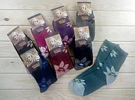 """Зимові вовняні шкарпетки жіночі з махрою термо """"Корона"""" 36-41 розмір НЖЗ-01644"""