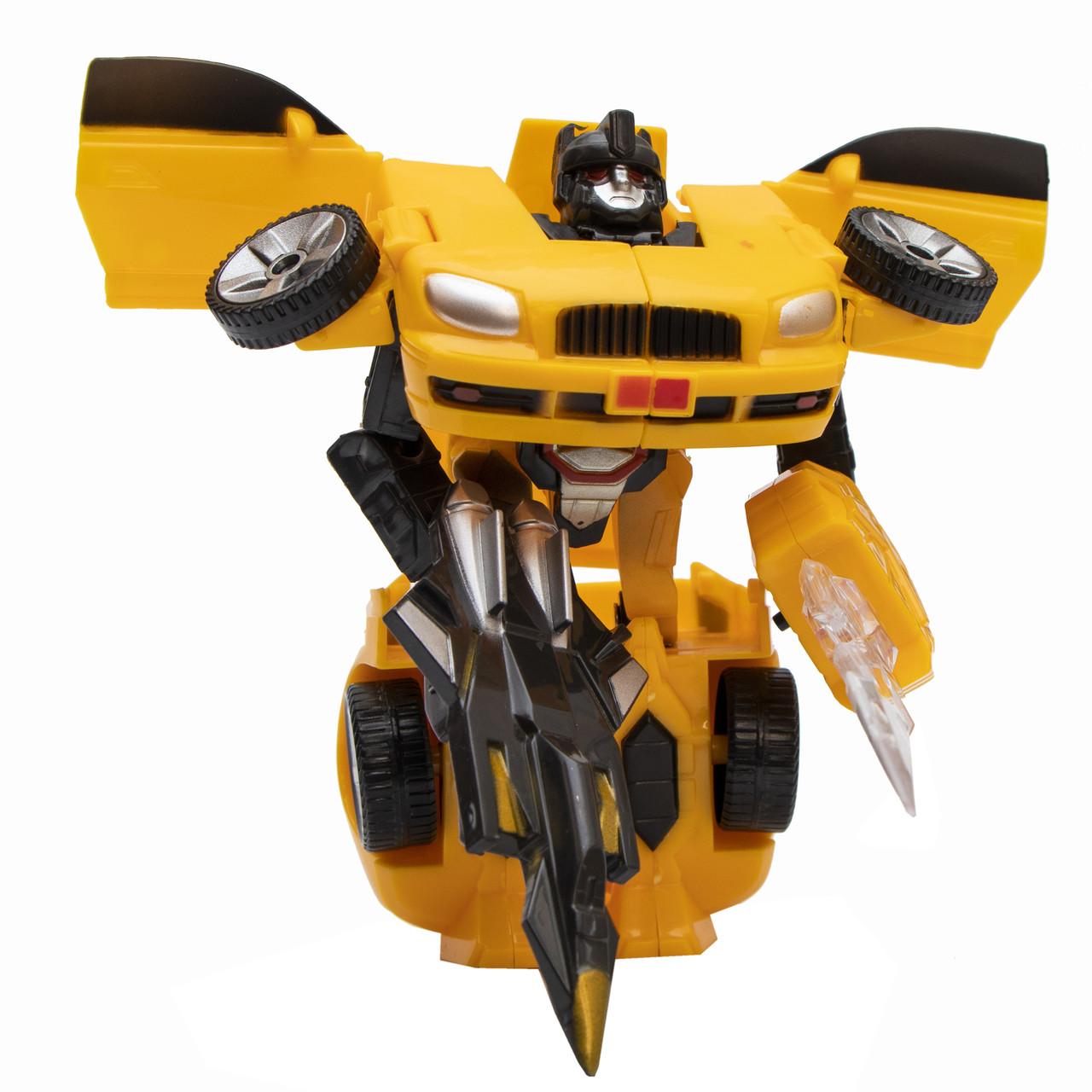 Трансформер-робот со световым мечом, Желтый (3832-1)