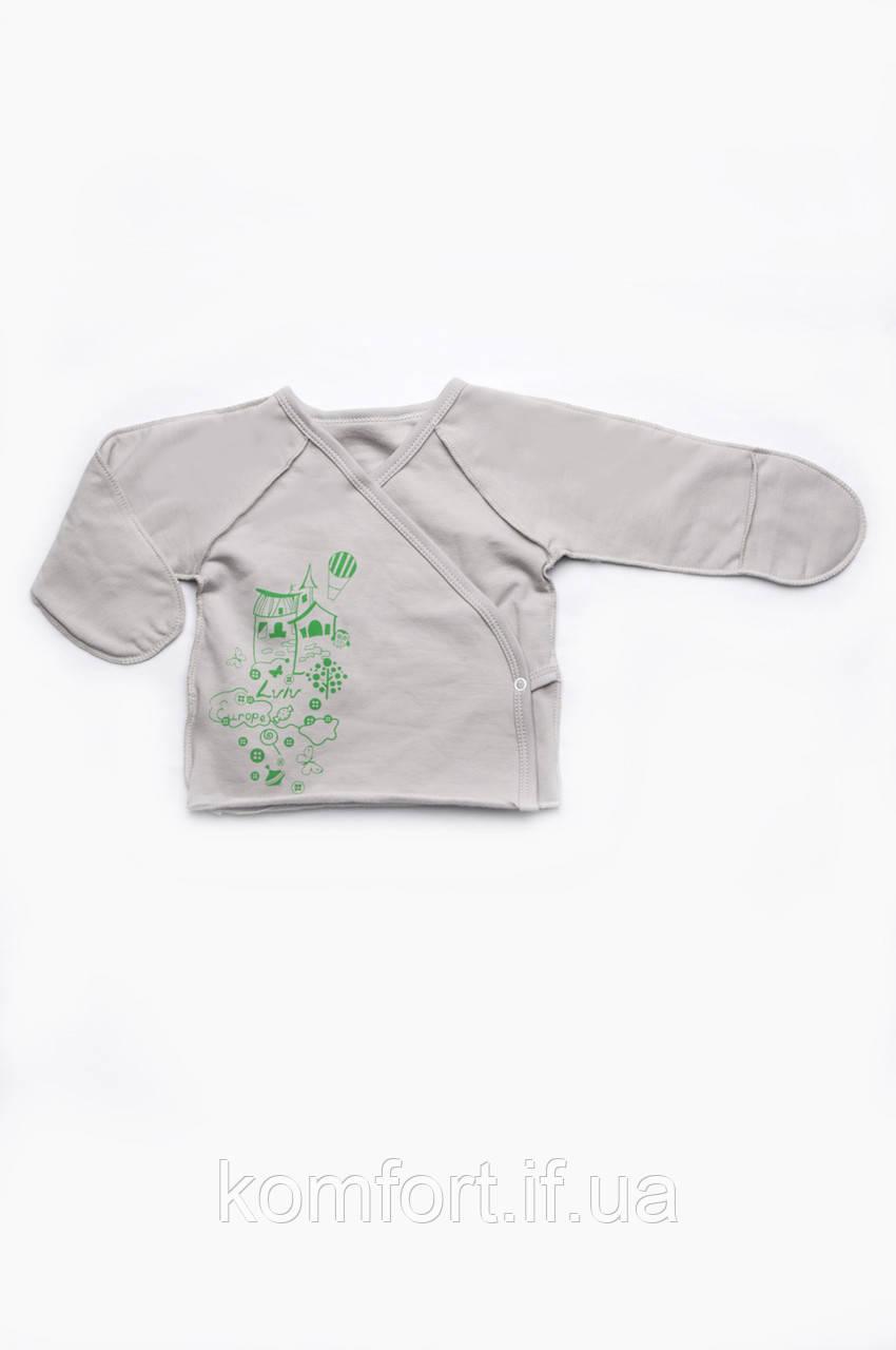 Распашонка детская для новорожденных (унисекс)