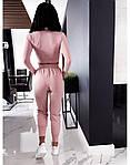 Жіночий спортивний костюм, турецька двунить, р-р 42-44; 44-46 (пудровий), фото 3
