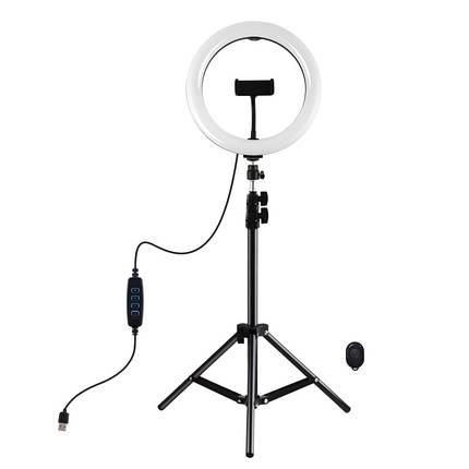 """Кольцевая USB LED лампа Puluz PKT3069B 10.2"""" + штатив 1.1 м, фото 2"""