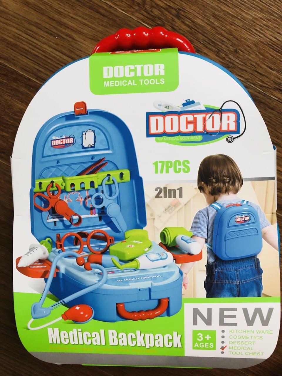 Детский набор доктора в чемодане, Игровой набор врача, медицинский набор для детей