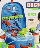 Детский набор доктора в чемодане, Игровой набор врача, медицинский набор для детей, фото 2