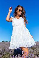 Женское летнее платье белого цвета батал SLK11-290611