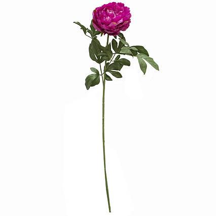 Искусственный цветок Пион, 83 см, фиолетовый, пластик (130320)