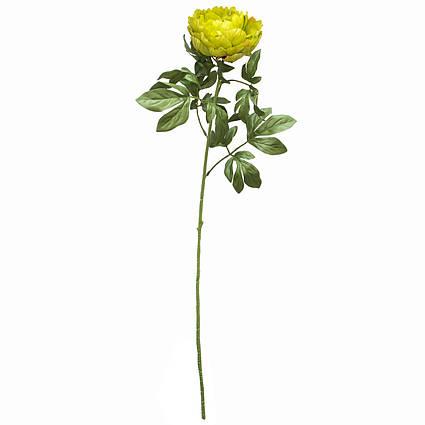 Искусственный цветок Пион, 83 см, зеленый, пластик (130337)