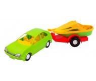 Іграшка Авто-купе з причепом 39002