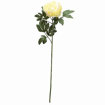 Искусственный цветок Пион, 83 см, белый, пластик (130344)