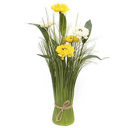 Искусственные цветы Камелия, сноп, 45 см, разноцветный, пластик (130382)