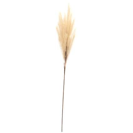 Искусственное растение Осока, 120 см, белый, пластик (130412)
