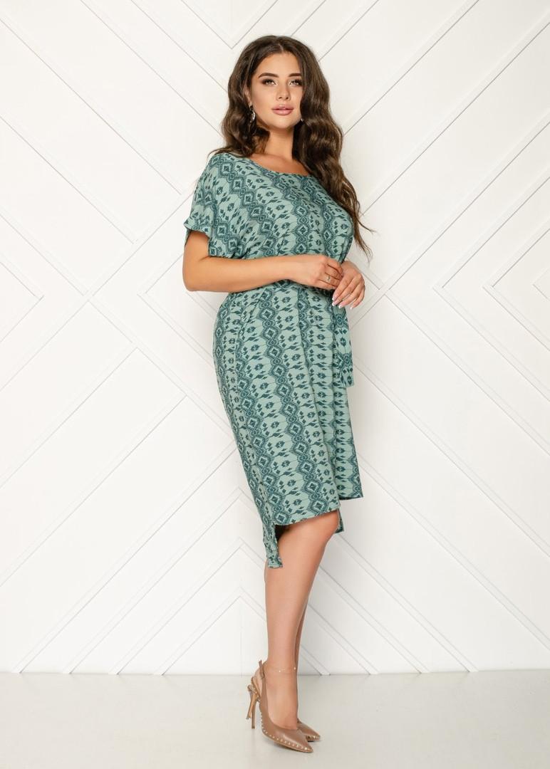 Женское платье батал, штапель, р-р 50; 52; 54; 56