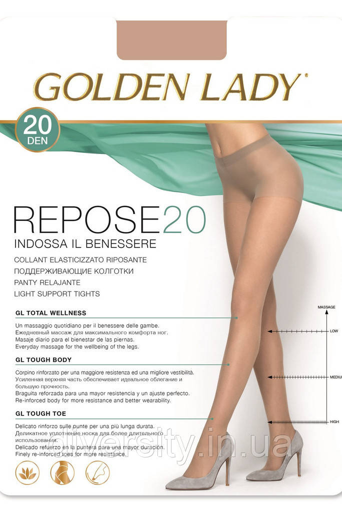 Колготки с распределенным давлением по ноге  Repose 20